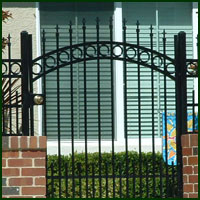 Wrought Iron Courtyard Gate Vacaville